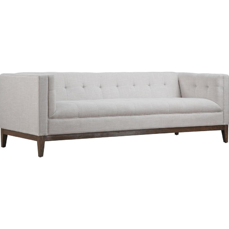 TOV Furniture Gavin Beige Linen Sofa + Armchair