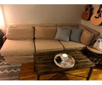Pottery Barn 3 Piece Sectional Sofa