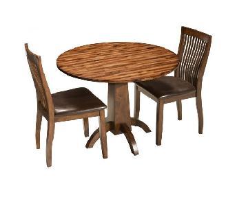 Raymour & Flanigan Drop Leaf 3-Piece Dining Set