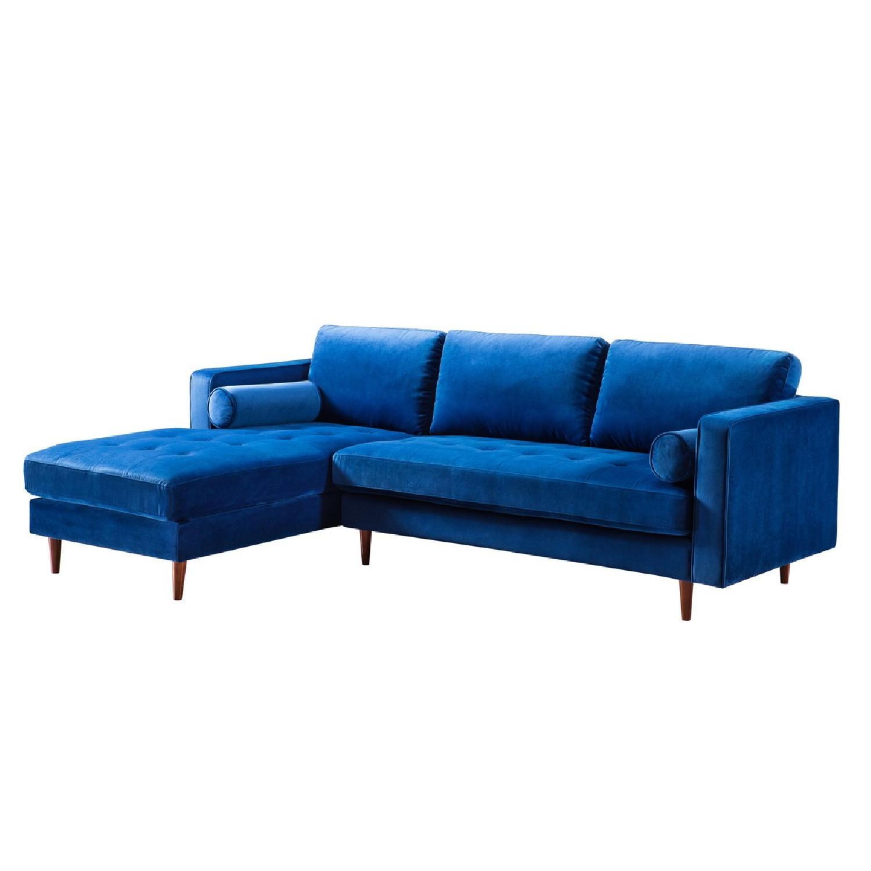 a6075905cef6d0 ... TOV Furniture Como Navy Velvet LAF Sectional Sofa-2 ...