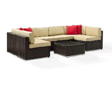 Charlton Home Kaczor 7 Piece Rattan Sectional Sofa