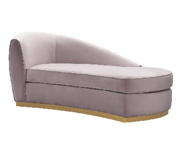 TOV Furniture Adele Blush Velvet Chaise
