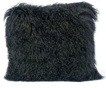 TOV Furniture Tibetan Sheep Black Pillow