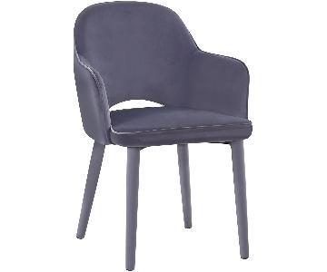 TOV Furniture Orion Grey Velvet Chair
