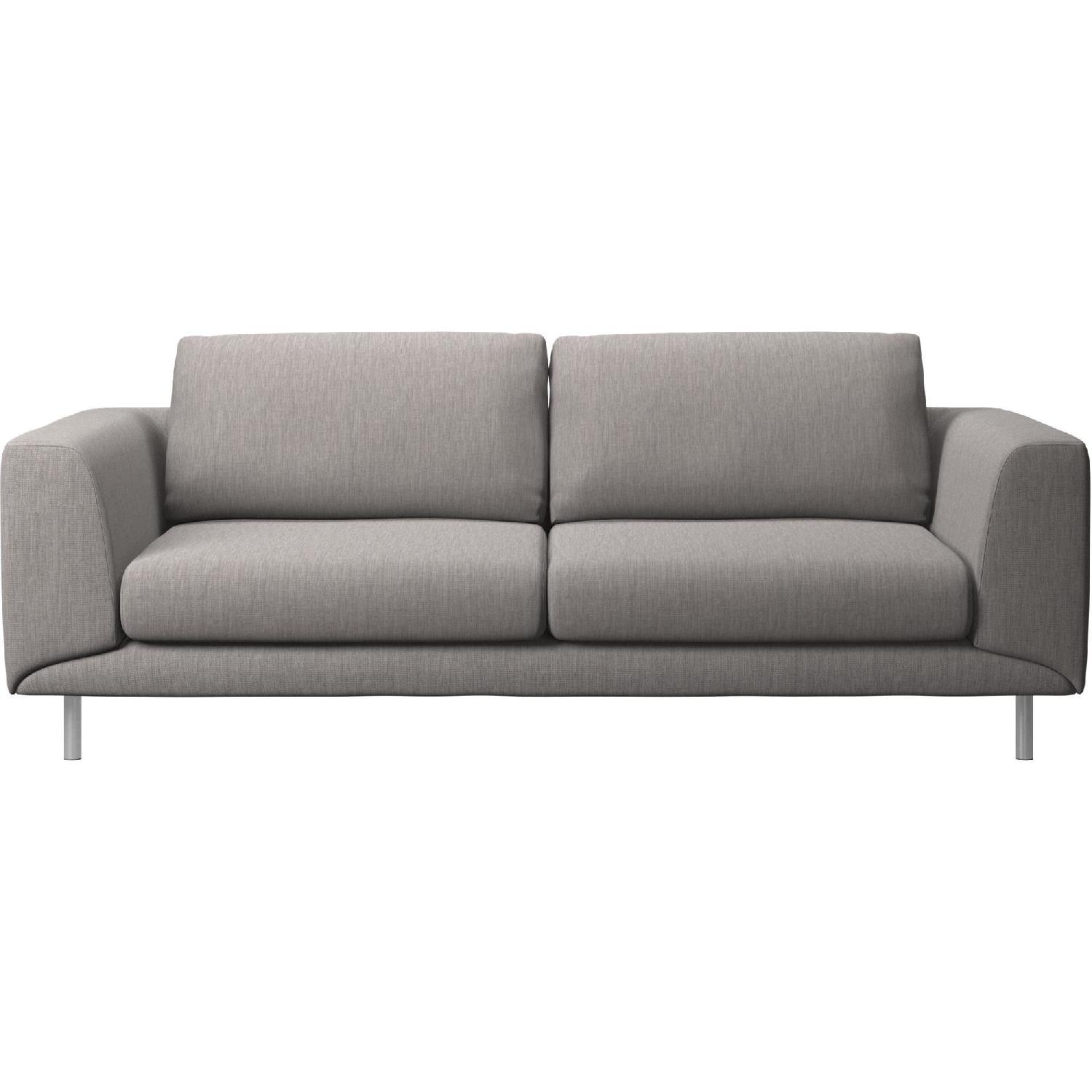 BoConcept Fargo 2.5 Seater Sofa In Speckled Grey/Steel ...