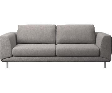 BoConcept Fargo 2.5 Seater Sofa in Speckled Grey/Steel