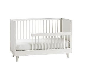 Pottery Barn Reese White Convertible Crib