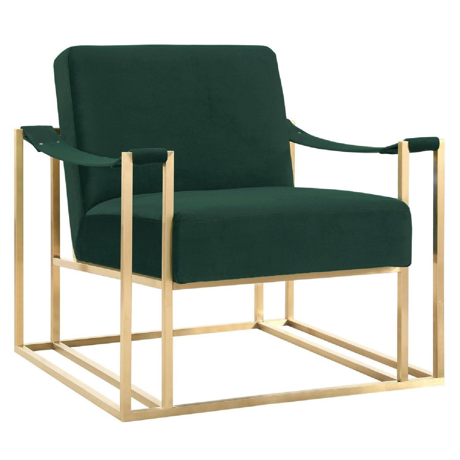 TOV Furniture Baxter Forest Green Velvet Chair