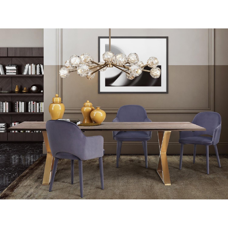 TOV Furniture Orion Grey 5 Piece Dining Set ...