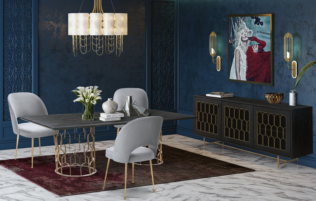 TOV Furniture Gatsby Wood 5 Piece Dining Set
