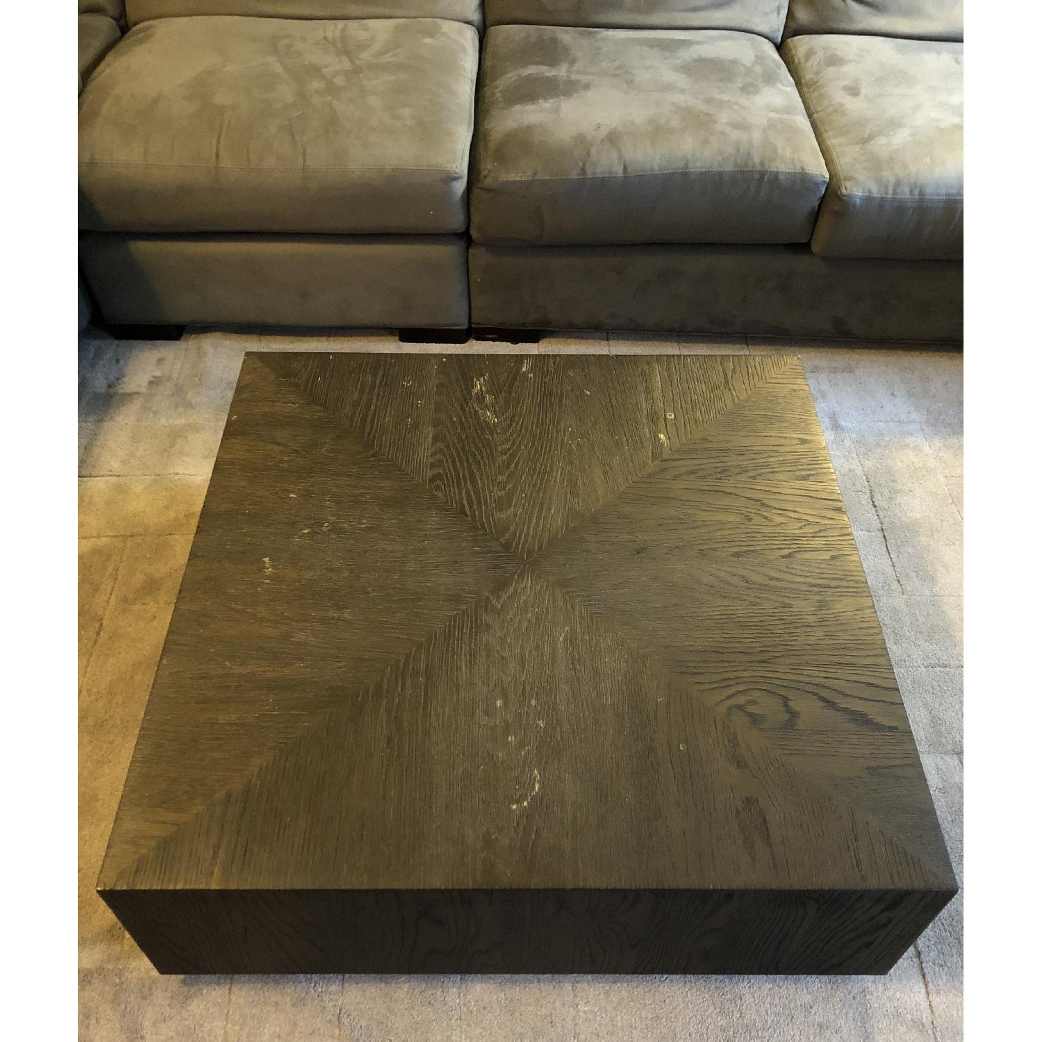 Restoration Hardware Postmodern Machinto Square Coffee AptDeco - Post modern coffee table