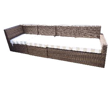 Pier 1 Echo Latte Outdoor/Patio 3 Piece Sectional Sofa