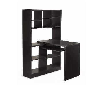 Monarch Furniture Corner Desk w/ Keyboard Tray & Storage