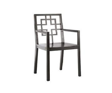 West Elm Overlapping Square Arm Chairs