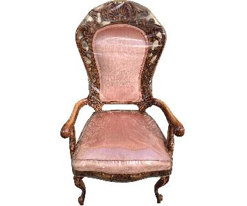 Verona Furniture Vintage Pink Armchairs w/ Plastic Cover