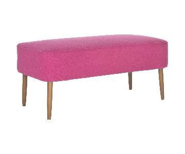 Safavieh Mid-Century Levi Berry Wool Bench
