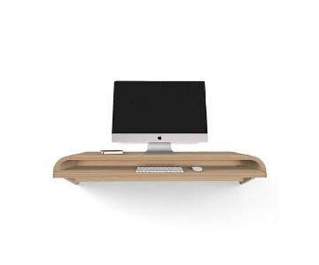 Orange22 Modern Floating Desk in Rift Oak