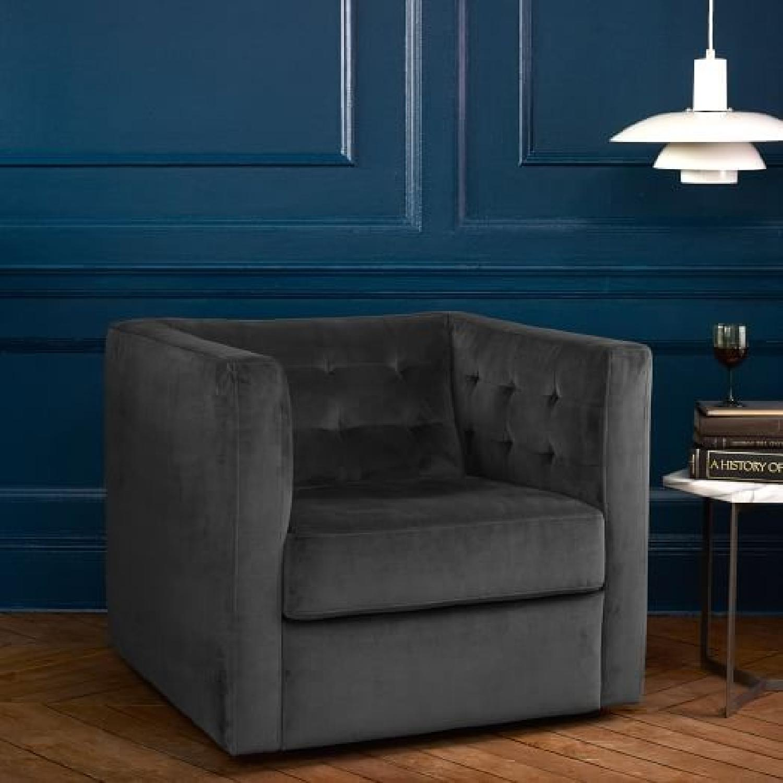 ... West Elm Rochester Swivel Chair 0 ...