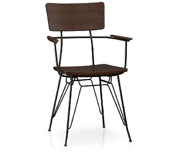 Crate & Barrel Elston Dining Chairs