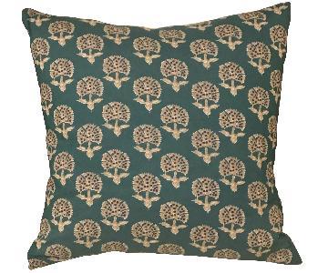 Batik Fabric Boho Chic Throw Pillow
