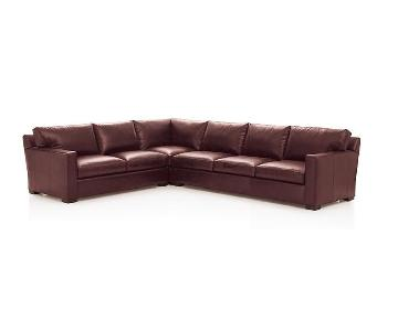 Crate & Barrel Axis II Leather Sectional Sofa