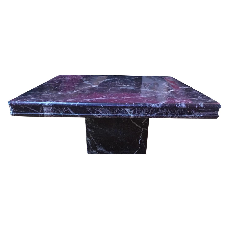 Square Black White U0026 Deep Red Coffee Table ...