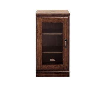 Pottery Barn Printer's Single Glass Door Cabinet