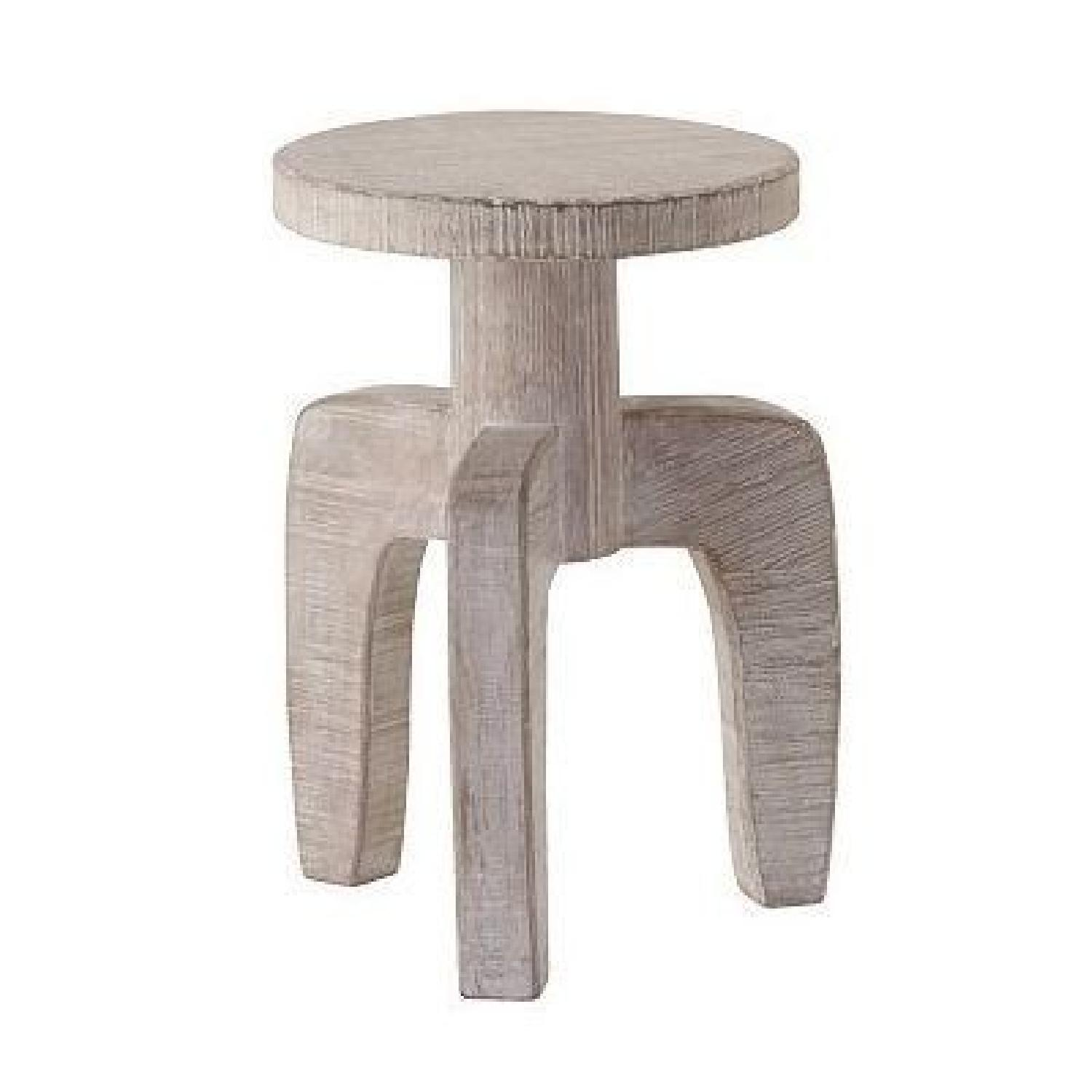 West Elm White Wooden Side Table ...
