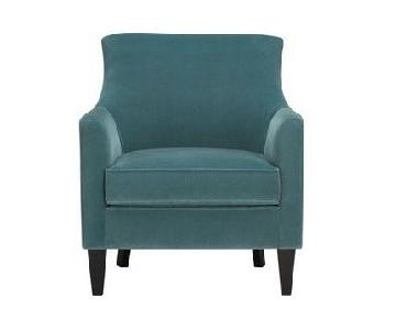 Crate & Barrel Clara Chair in Blue Velvet