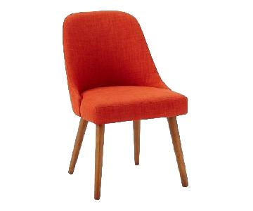 West Elm Mid-Century Upholstered Dining Chairs in Cayenne