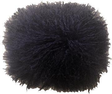 Adrienne Landau Lamb Mongolian Purple Fur Pillow