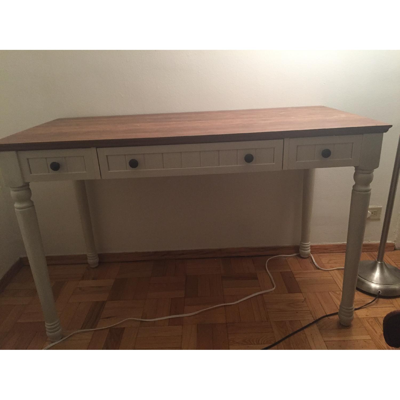 Office Depot Antique White Writing Desk Aptdeco
