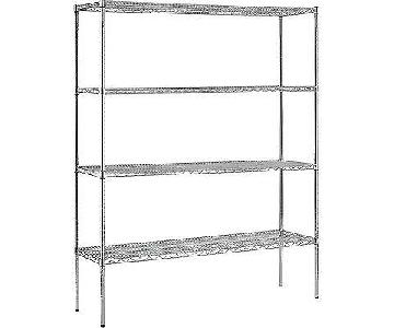 Chrome Shelving Unit