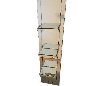 Thin Mirror w/ 3 Shelves