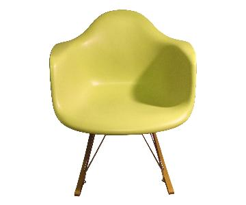 Design Within Reach Eames Vitra Plastic Rocker in Lime Yellow