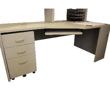 Techline Furniture Grey Office Corner Desk