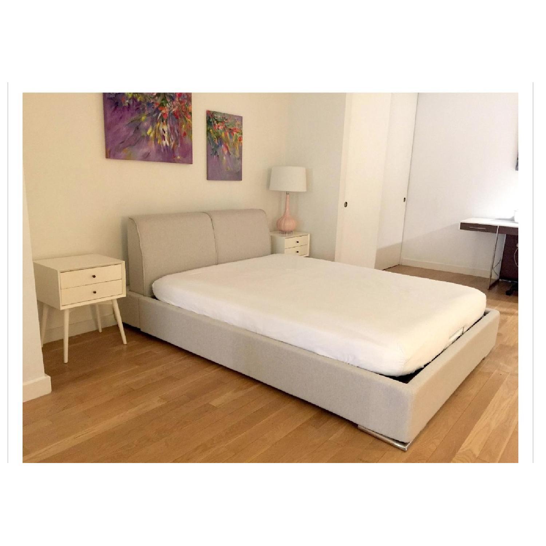 Calligaris Alameda Platform Bed w/ Storage & Headboard-1