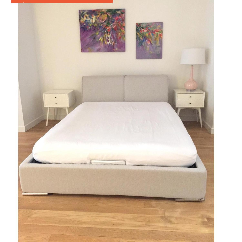 Calligaris Alameda Platform Bed w/ Storage & Headboard-2