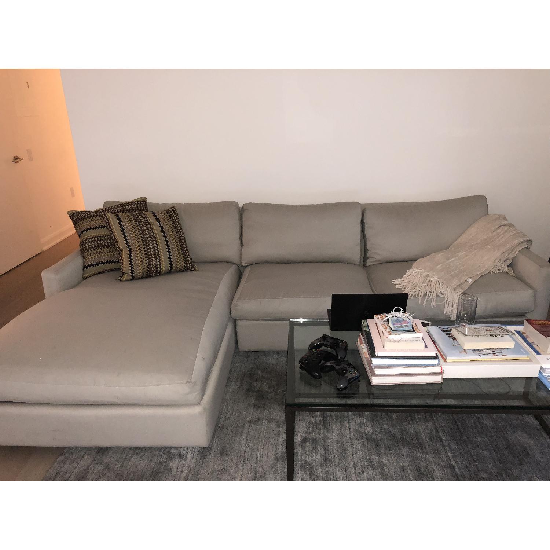 ... Room U0026 Board Beckett Sectional Sofa W/ Chaise 0 ...