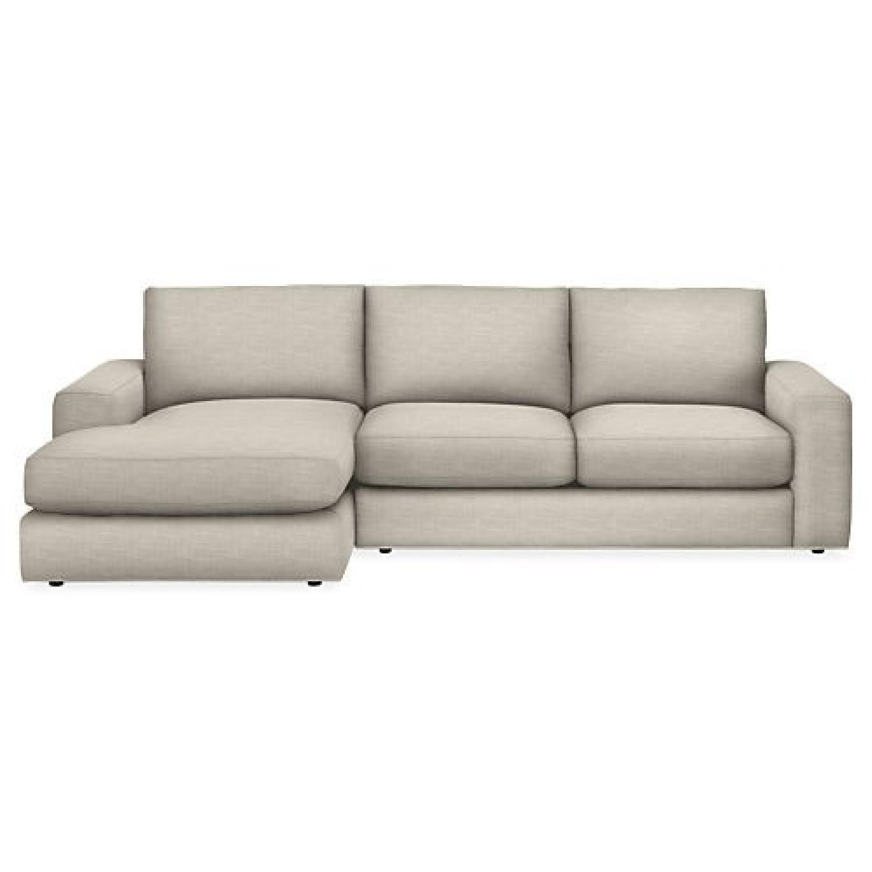 Room U0026 Board Beckett Sectional Sofa W/ Chaise ...