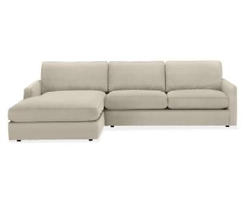 Room & Board Beckett Sectional Sofa w/ Chaise