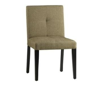 Crate & Barrel Epoch Cocoa Tweed Dining/Side Chair