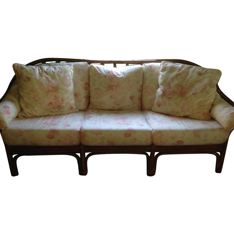 Rattan 3 Seater Loose Cushion Sofa ...