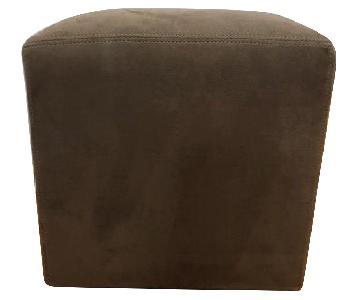 Crate & Barrel Dansen Cube Ottoman