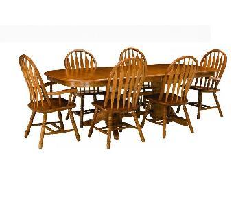Raymour & Flanigan Sherwood Park 7-Piece Dining Set