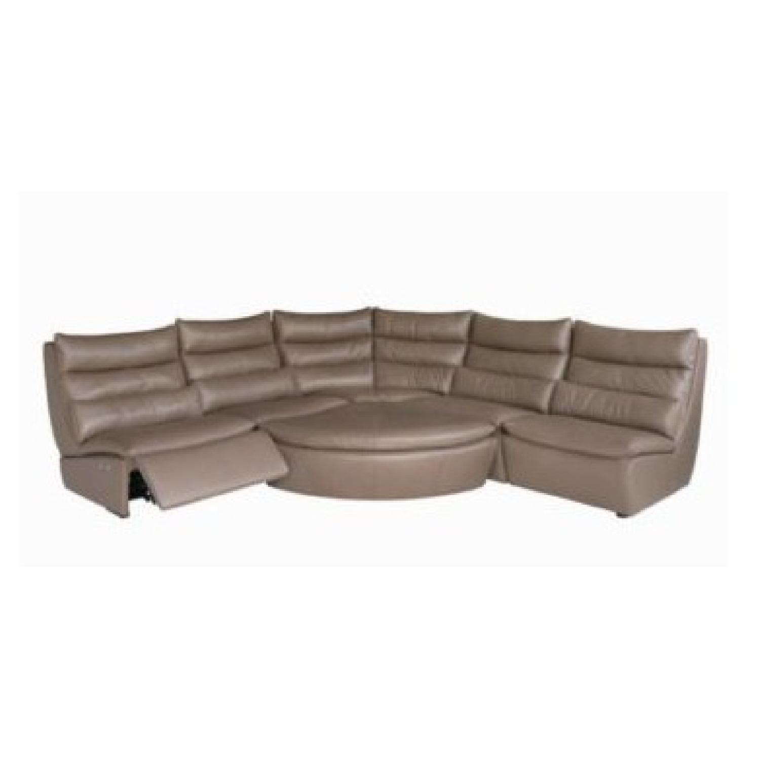 Chateau Du0027ax Messina Sectional Sofa W/ 2 Electric Recliners ...