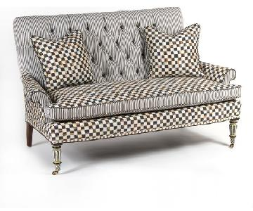 MacKenzie Childs Courtly Check Loveseat