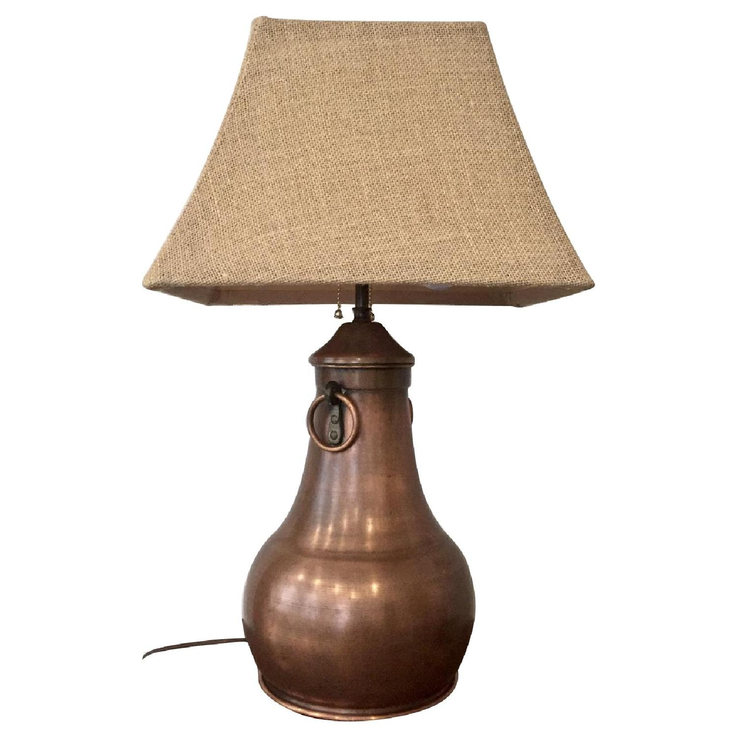 Arrow Arts & Crafts Handcrafted Metal Copper Table Lamp