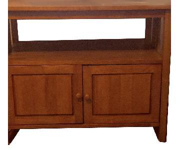 Solid Wood Media/Storage Cabinet