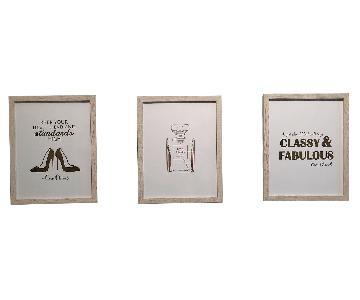Gold Foil Print Coco Chanel Wall Art
